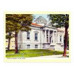 Library, Flint, Michigan Vintage Postcard
