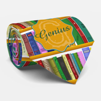 library for genius. Personalized Neck Tie