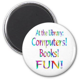 Library Fun 2 Inch Round Magnet