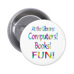 Library Fun Pinback Button