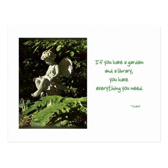 Library Garden Sprite card