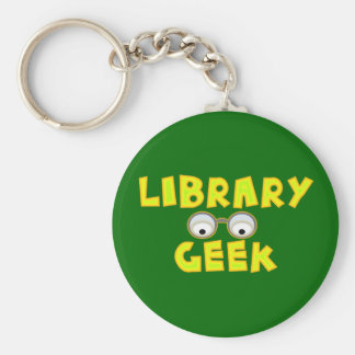 Library Geek Keychain
