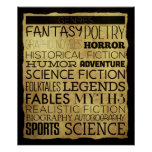 Library Genre Classroom Poster