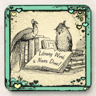 Library Gift. Librarian Assistant Gift. Drink Coaster