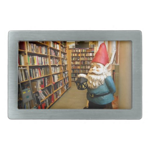 Library Gnome I Belt Buckle