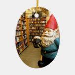 Library Gnome I Christmas Tree Ornaments