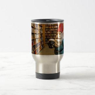 Library Gnome I 15 Oz Stainless Steel Travel Mug