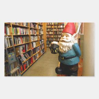 Library Gnome I Rectangular Sticker