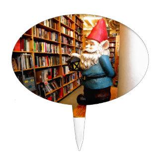 Library Gnome II Cake Topper