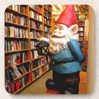 Library Gnome II Drink Coaster