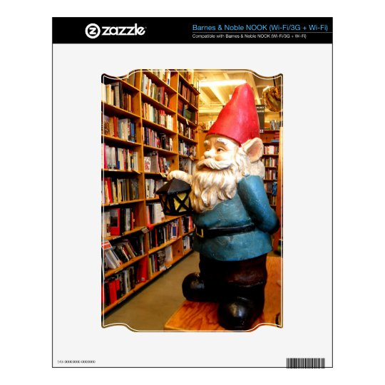 Library Gnome II NOOK Decal