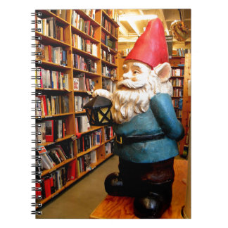 Library Gnome II Spiral Notebook