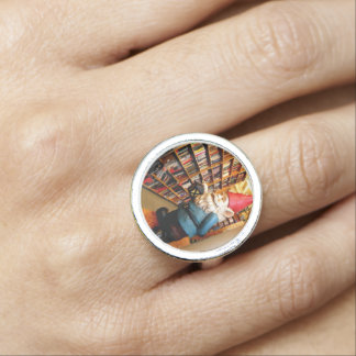 Library Gnome Photo Ring