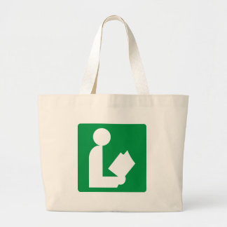 Library Highway Sign Canvas Bags