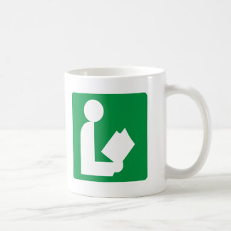 Library Highway Sign Classic White Coffee Mug