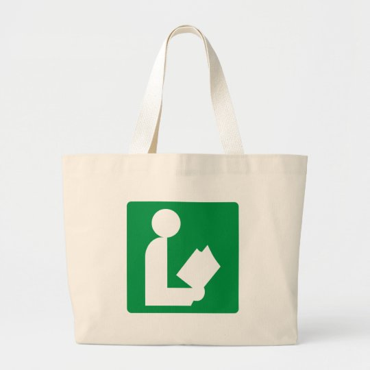 Library Highway Sign Large Tote Bag