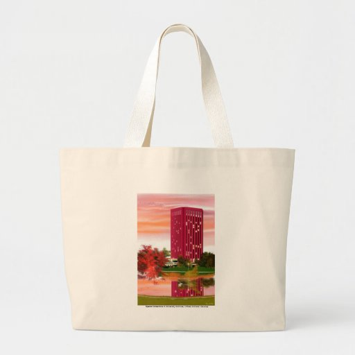 Library in Fall by Tam Nguyen Canvas Bag
