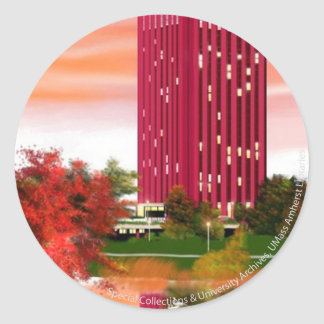 Library in Fall by Tam Nguyen Classic Round Sticker