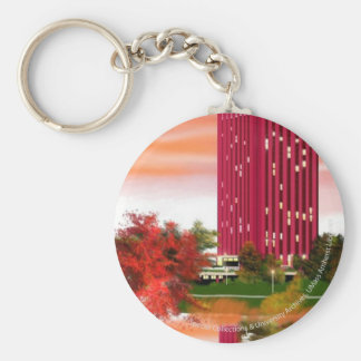 Library in Fall by Tam Nguyen Keychain