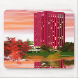 Library in Fall by Tam Nguyen Mouse Pad