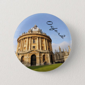 Library in Oxford, England Pinback Button