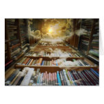 Library In the Sky Greeting Card