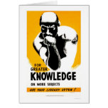 Library Is Knowledge 1940 WPA Card