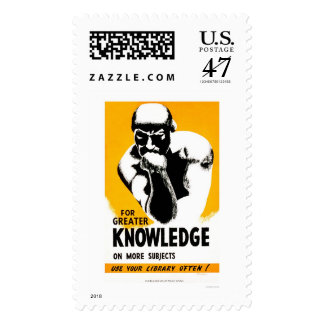 Library Is Knowledge 1940 WPA Postage