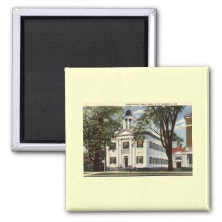Library, Lenox, Massachusetts 1932 Vintage 2 Inch Square Magnet