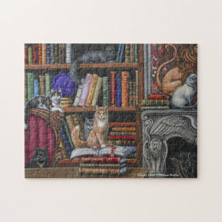 Library Lions Cats & Books Puzzle