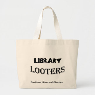 Library Looters Large Tote Bag
