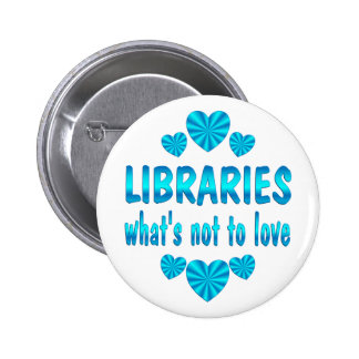 LIBRARY LOVE PINBACK BUTTON