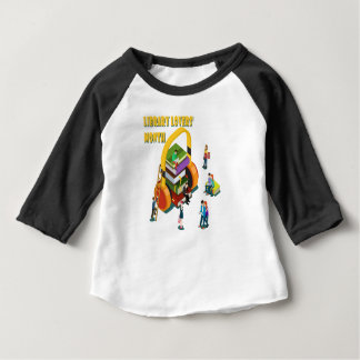 Library Lovers' Month - Appreciation Day Baby T-Shirt