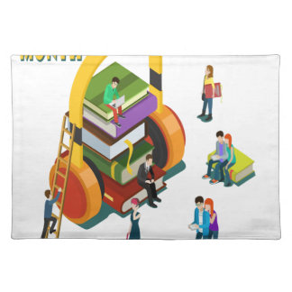Library Lovers' Month - Appreciation Day Cloth Placemat