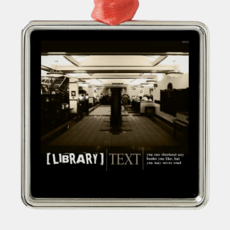 Library Metal Ornament