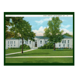 Library, Middlebury, VT Vintage Postcard