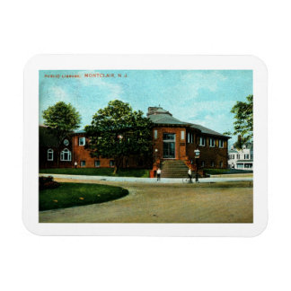 Library, Montclair, NJ 1909 Vintage Magnet