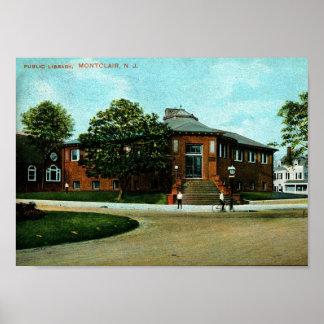 Montclair posters zazzle library montclair nj 1909 vintage poster negle Images