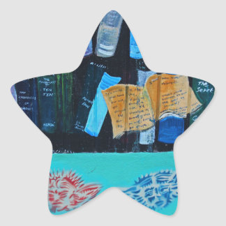 Library Mural Star Sticker