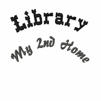 Library My 2nd Home Embroidered Polo Shirts