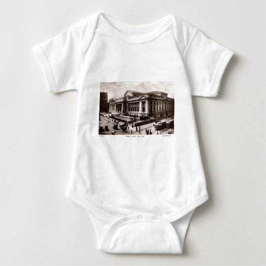 Library, New York City c1910 Vintage Baby Bodysuit