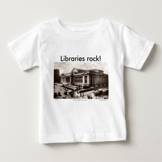 Library, New York City c1910 Vintage Baby T-Shirt