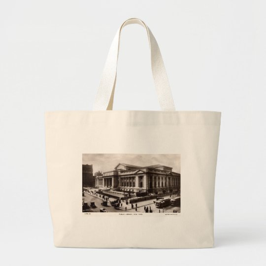 Library, New York City c1910 Vintage Large Tote Bag