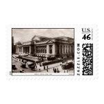 Library, New York City c1910 Vintage Postage Stamps
