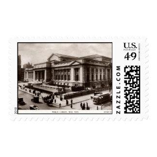 Library, New York City c1910 Vintage Postage