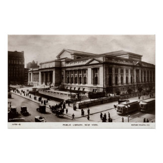 Library, New York City c1910 Vintage Poster