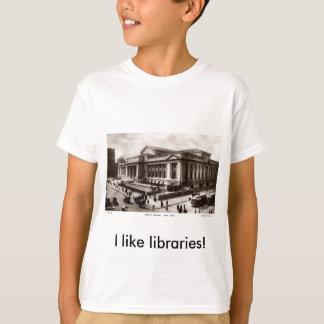Library, New York City c1910 Vintage T-Shirt