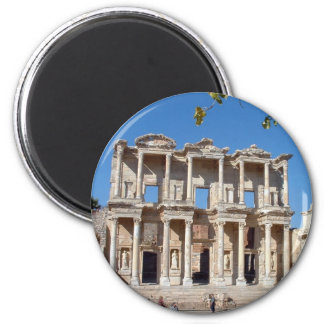 Library of Celsus 2 Inch Round Magnet