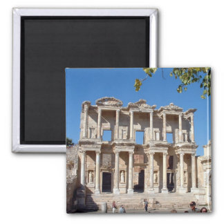 Library of Celsus 2 Inch Square Magnet