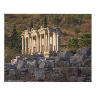 Library Of Celsus Ruins Panel Wall Art